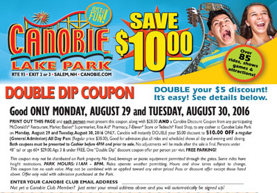 Mcdonalds canobie lake park coupons 2018 - Ocharleys ...