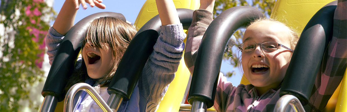 Kids on family rides