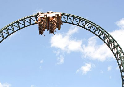 Untamed, roller coaster, upside-down, thrill