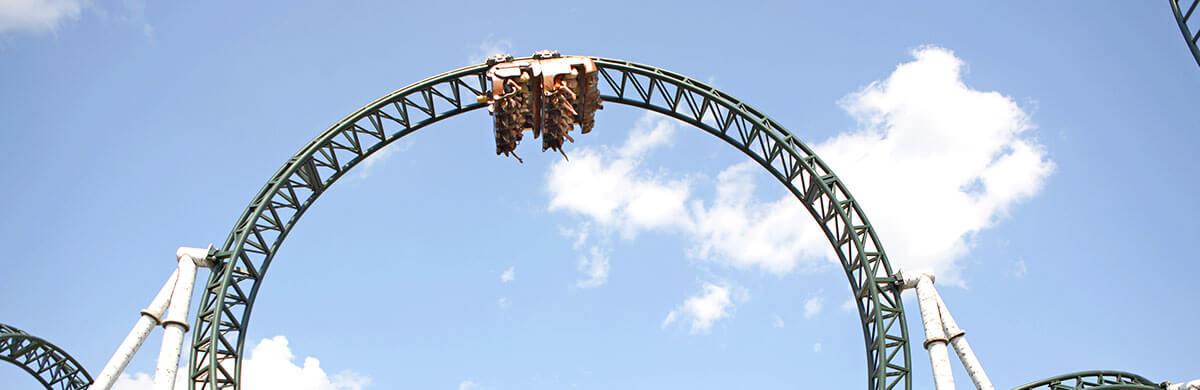 Untamed, roller coaster, upside-down, thrill