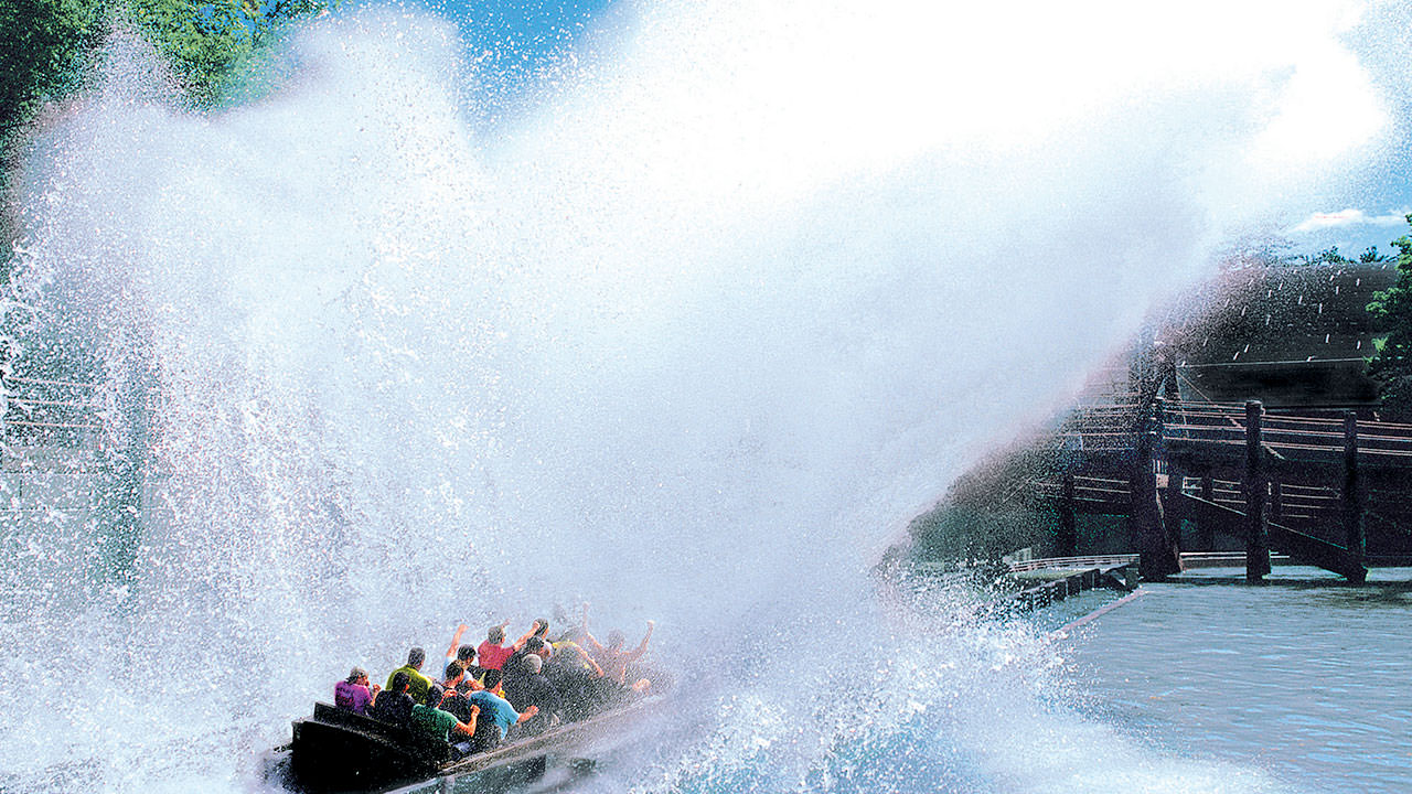 Boston Tea Party water ride at Canobie Lake Park