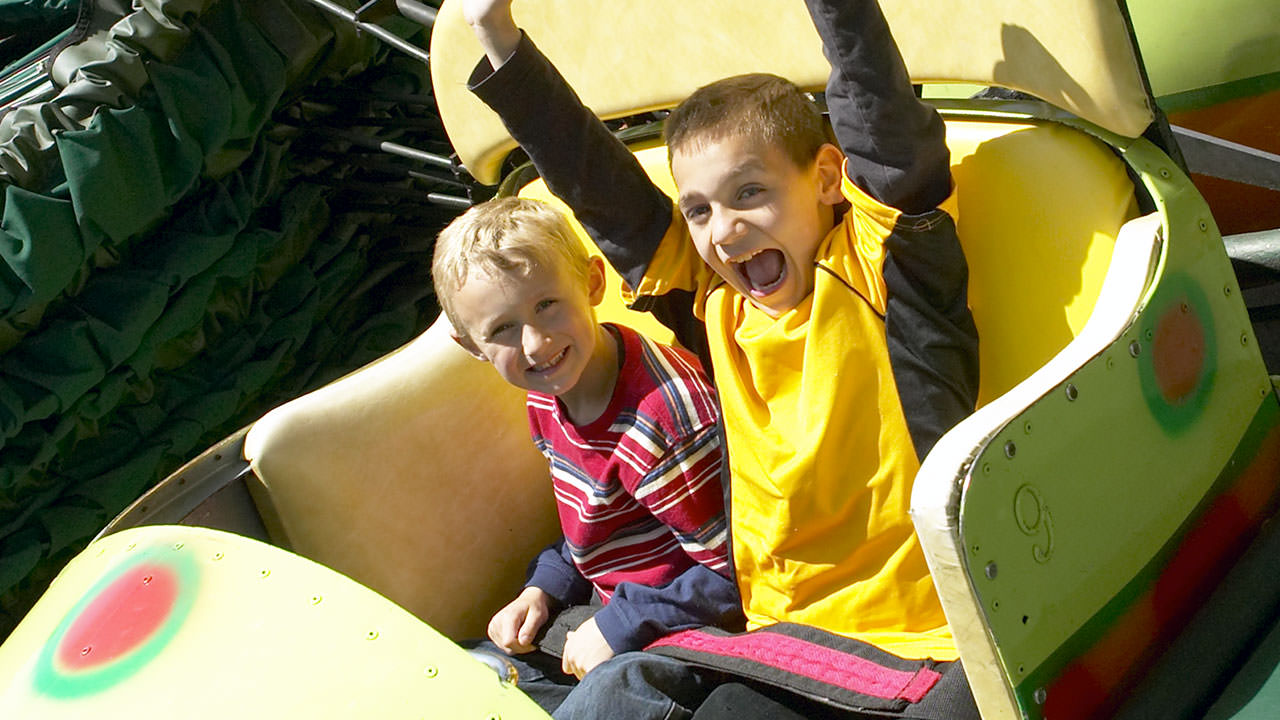 Caterpillar family ride at Canobie Lake Park