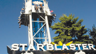 Starblaster thrill ride at Canobie Lake Park
