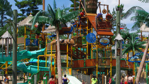 Castaway Island water park at Canobie Lake