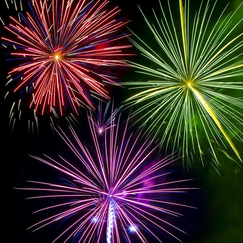 Fireworks at Canobie Lake Park