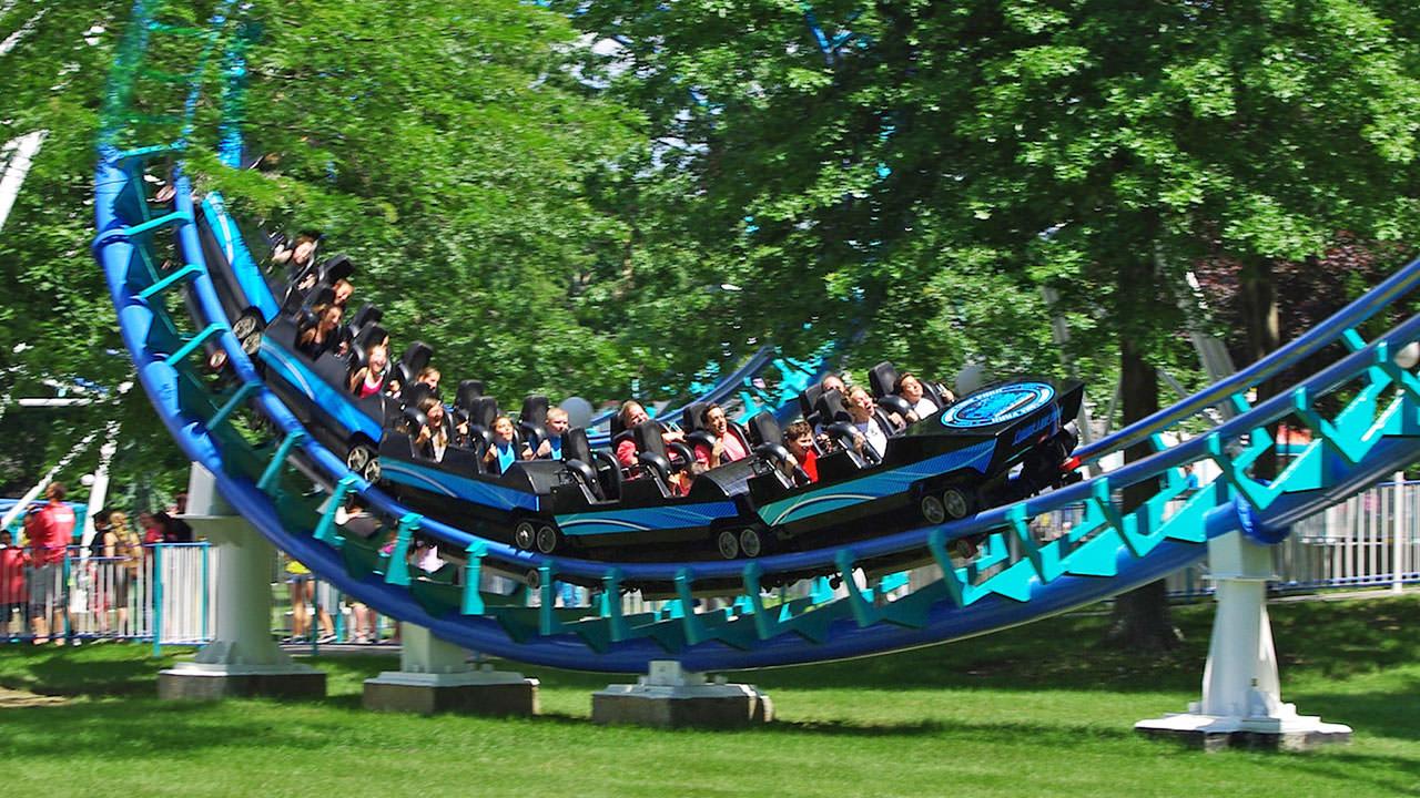 Thrill ride at Canobie Lake Park
