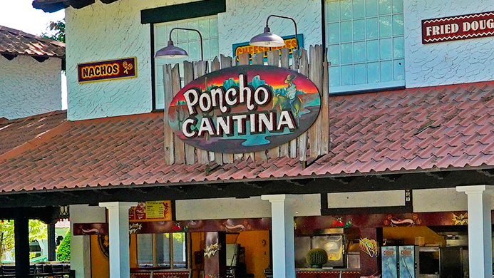 Poncho Cantina food stand at Canobie Lake Park.