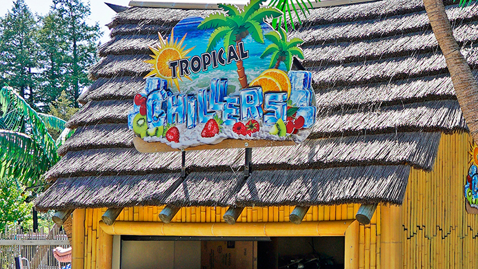 Tropical Chillers food venue at Canobie Lake Park.