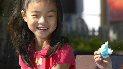Young girl at Dancing Bear Canteen