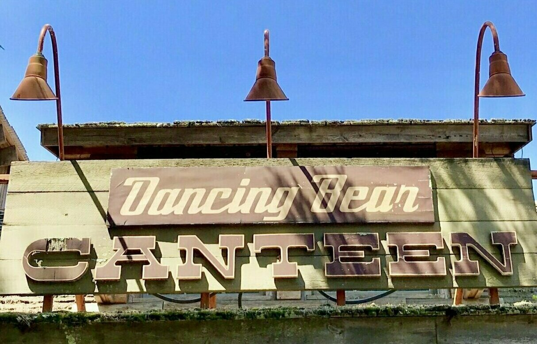Dancing Bear Canteen Sign
